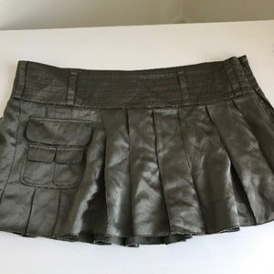 New Hollister 100% silk mini skirt